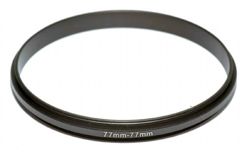 Coupling Ring Male-Male Thread 77-77mm  Double Lens Reverse Macro Adapter